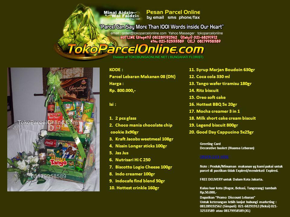 KODE : Parcel Lebaran Makanan 09 (EM) Harga : Rp.800.000,- Isi : 1.