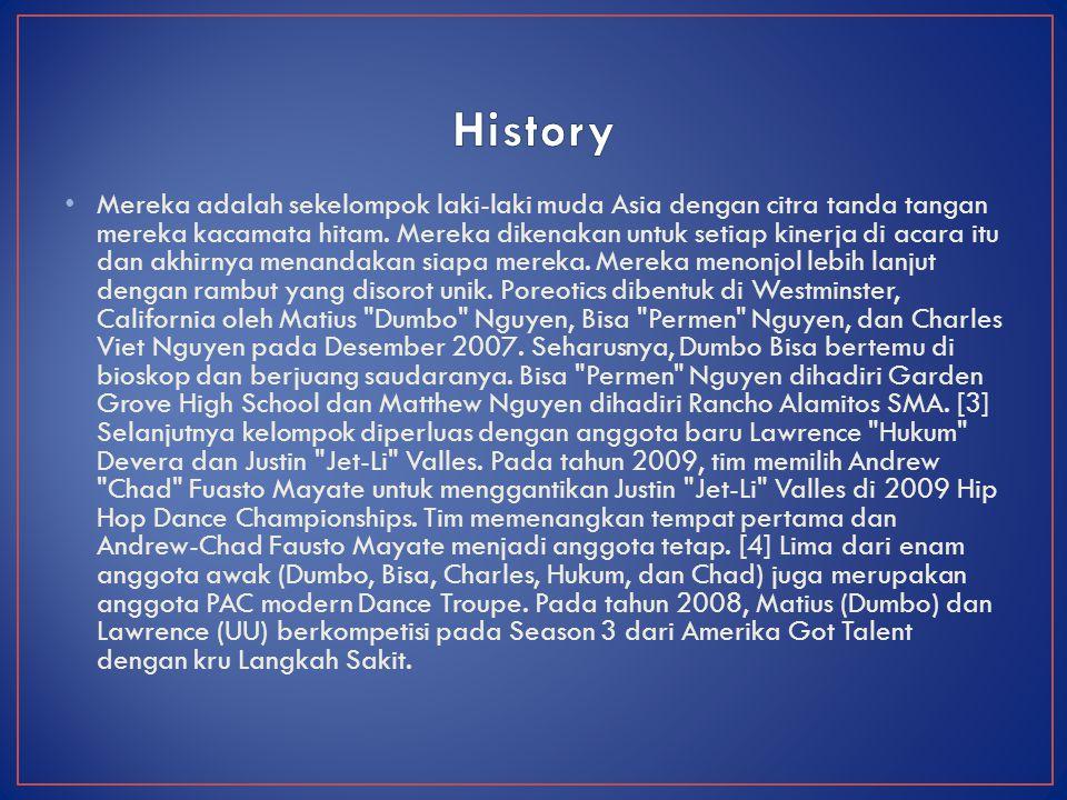 Pada 11 Februari 2010 Poreotics berkompetisi di musim kelima dari Randy Jackson Presents Amerika Best Dance Crew. Awak menari-nari untuk beberapa lagu