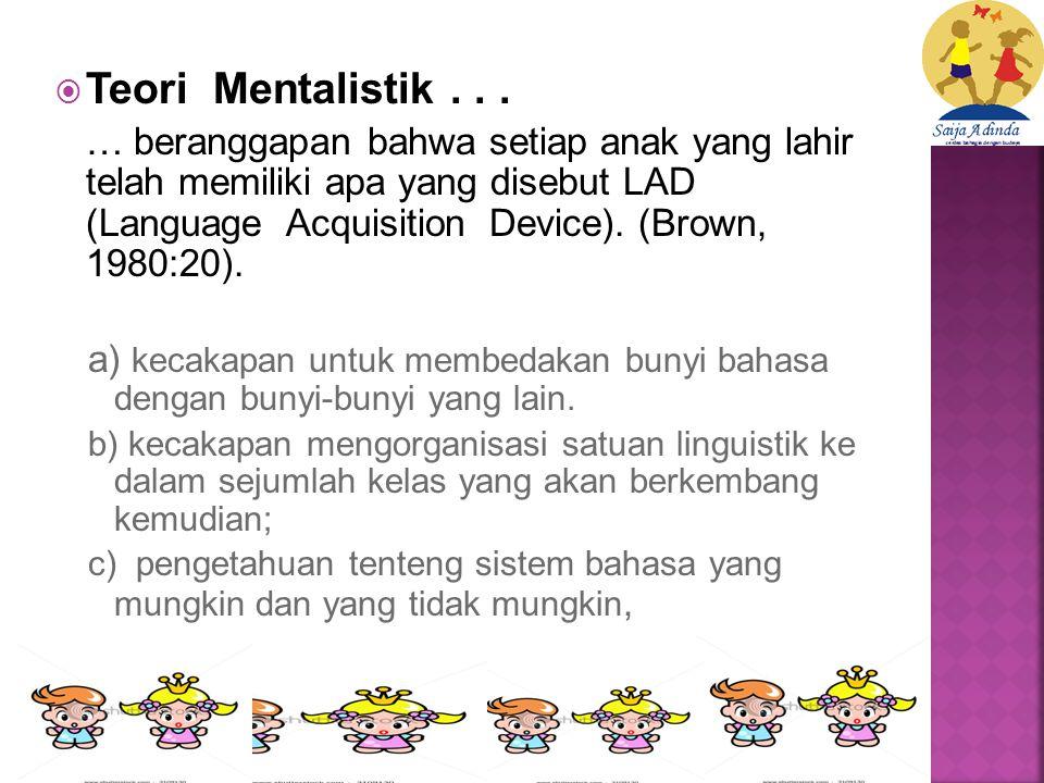  Teori Mentalistik...