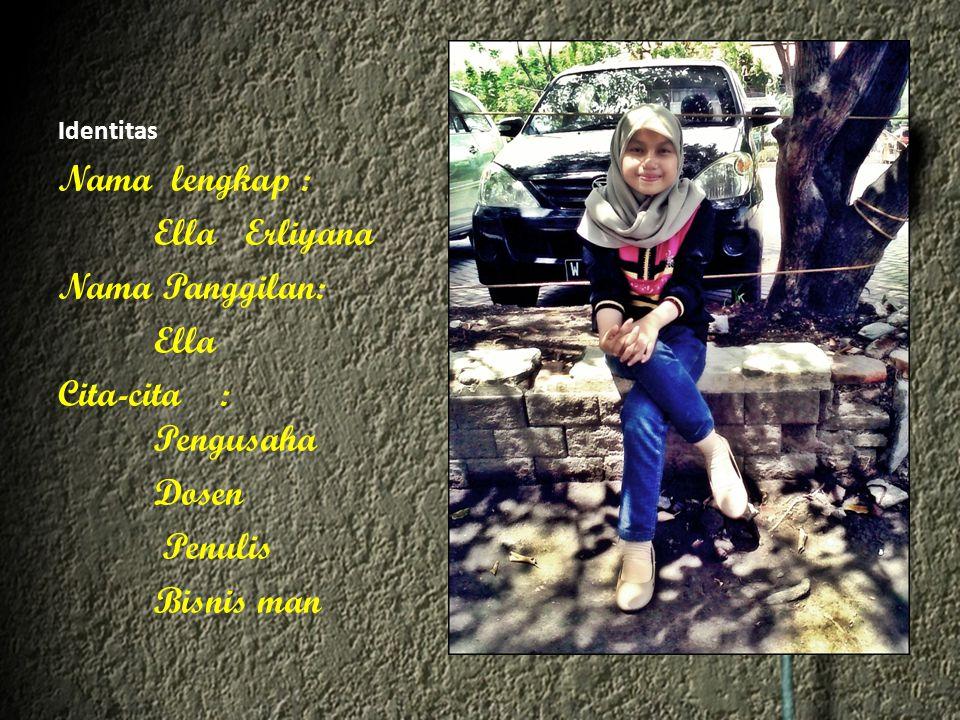 Hobby Menulis Puisi berjudul Dia oleh Ella Erliyana pada 14 Desember 2012 pukul 21:55 ·Ella Erliyana Tuhan...