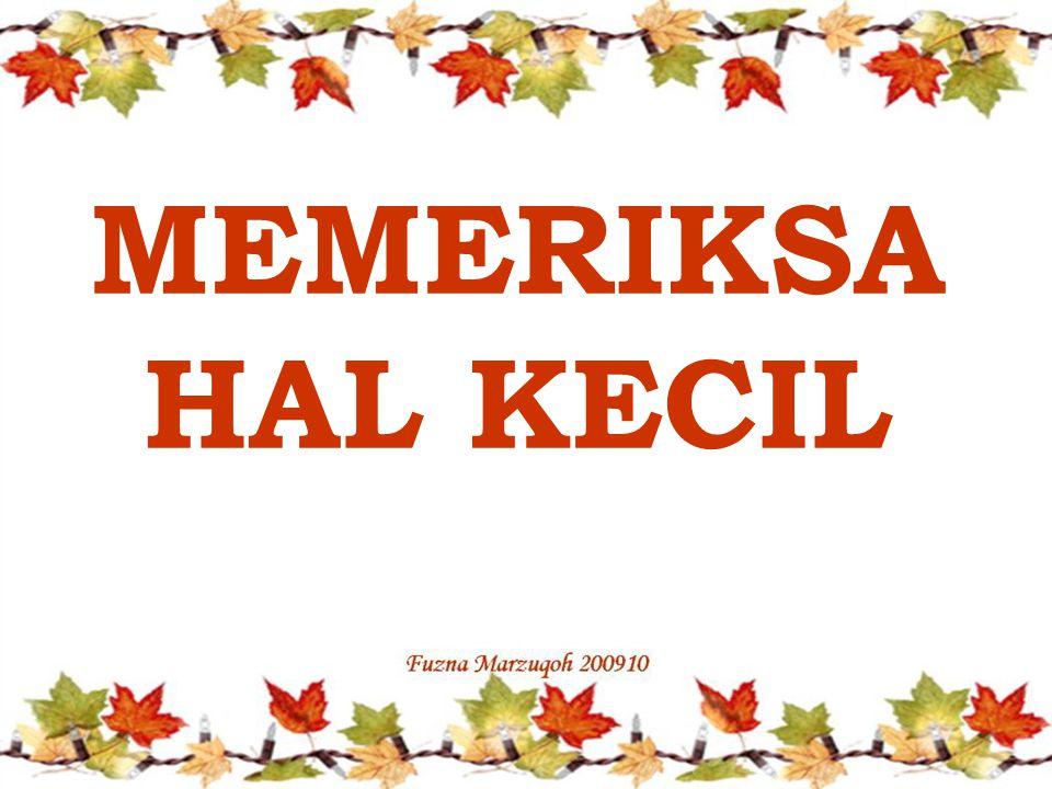 MEMERIKSA HAL KECIL