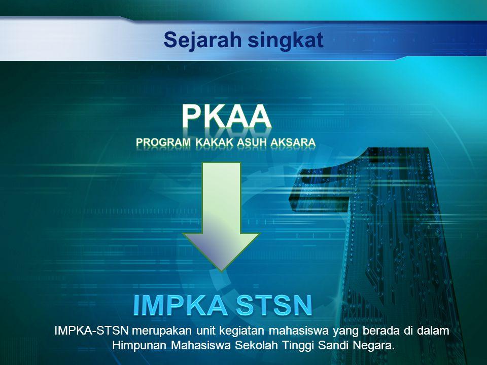 Sejarah singkat IMPKA-STSN merupakan unit kegiatan mahasiswa yang berada di dalam Himpunan Mahasiswa Sekolah Tinggi Sandi Negara.