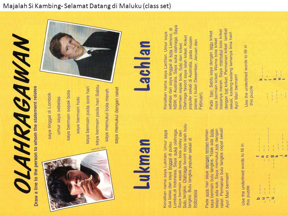 Majalah Si Kambing- Selamat Datang di Maluku (class set)