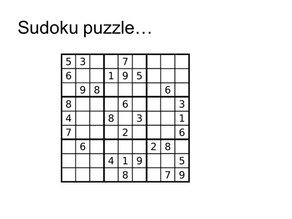 Sudoku puzzle…
