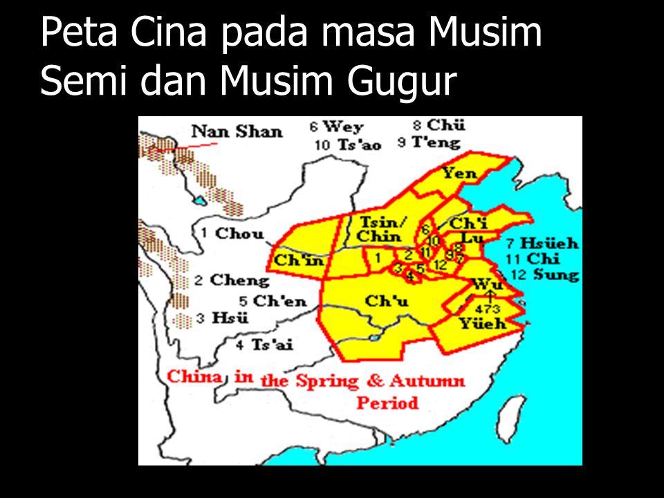 Peta Cina pada masa Musim Semi dan Musim Gugur