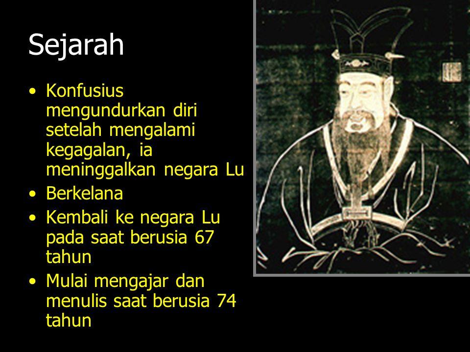 Sejarah Konfusius mengundurkan diri setelah mengalami kegagalan, ia meninggalkan negara Lu Berkelana Kembali ke negara Lu pada saat berusia 67 tahun M