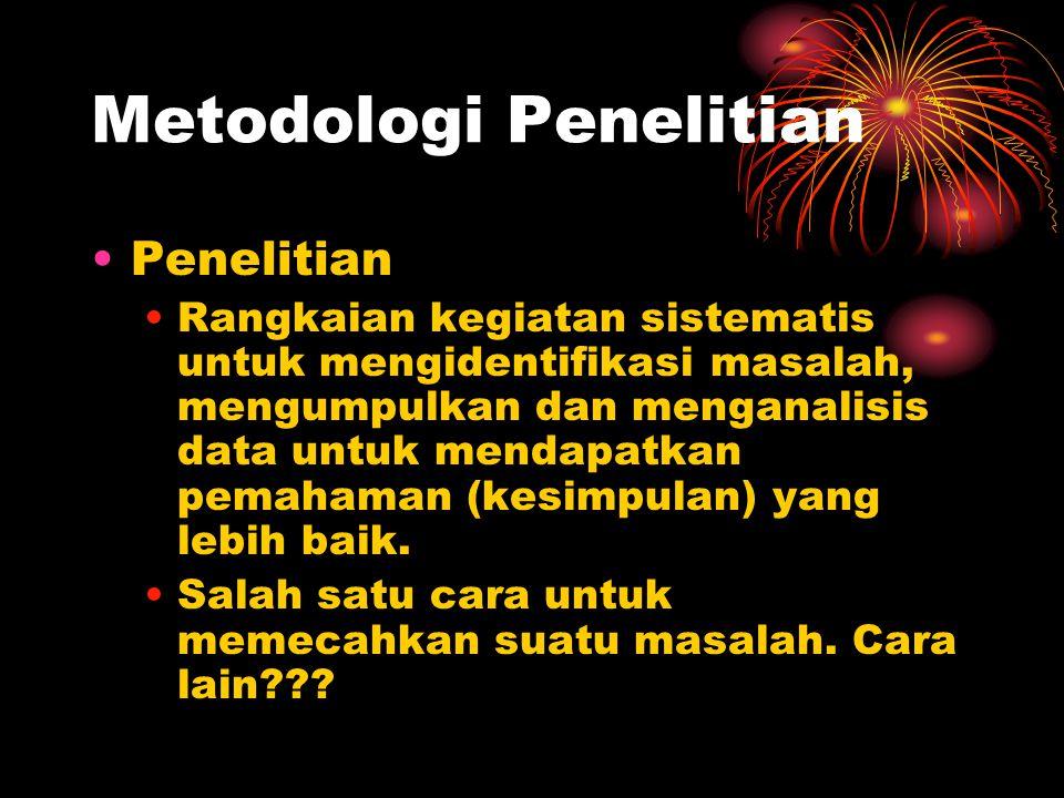 Metodologi Penelitian Penelitian Ilmiah.