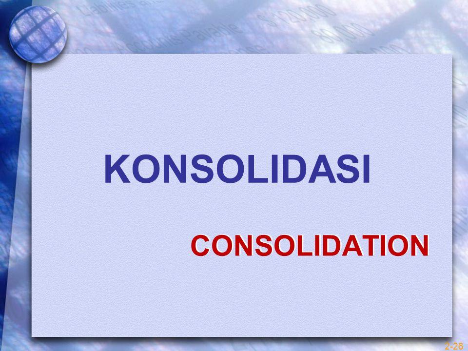 CONSOLIDATION KONSOLIDASI 2-26