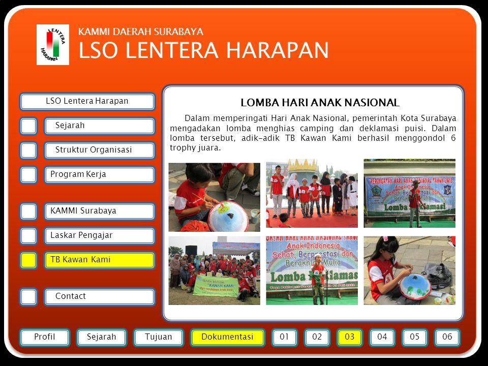 Forsmawi Surabaya LOMBA HARI ANAK NASIONAL Dalam memperingati Hari Anak Nasional, pemerintah Kota Surabaya mengadakan lomba menghias camping dan deklamasi puisi.