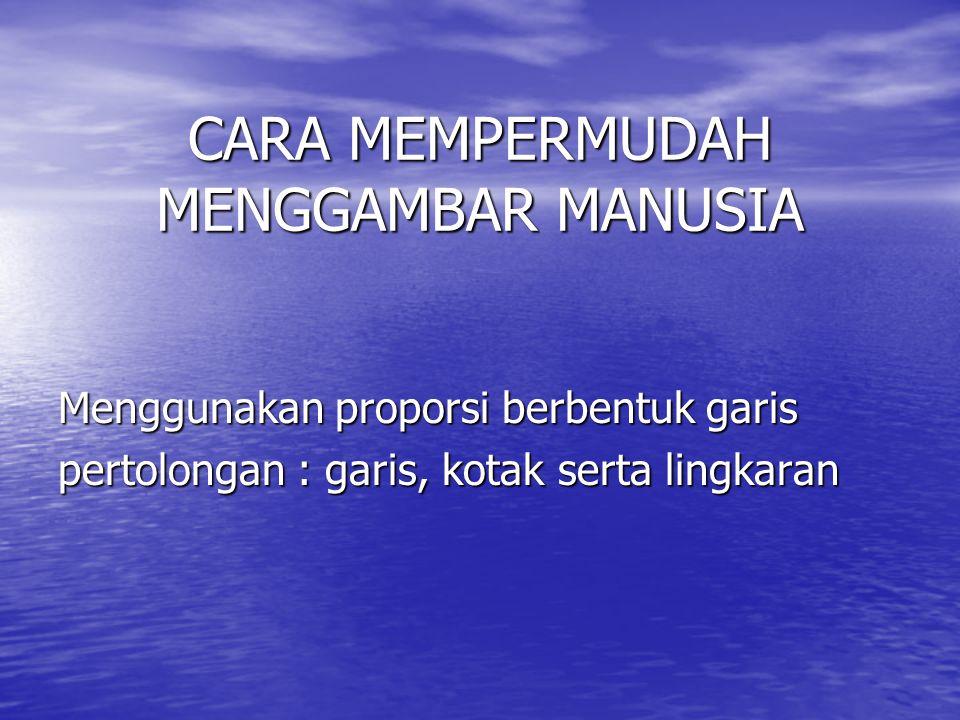 PERBEDAAN PROPORSI MANUSIA 1.