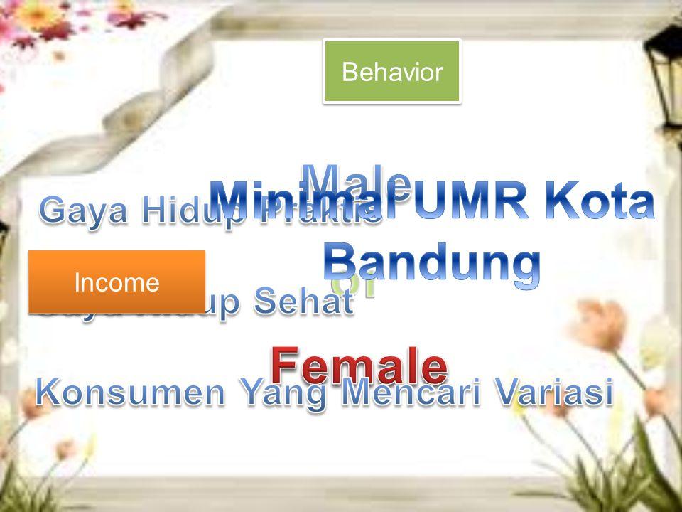 Gender Gender Behavior Income