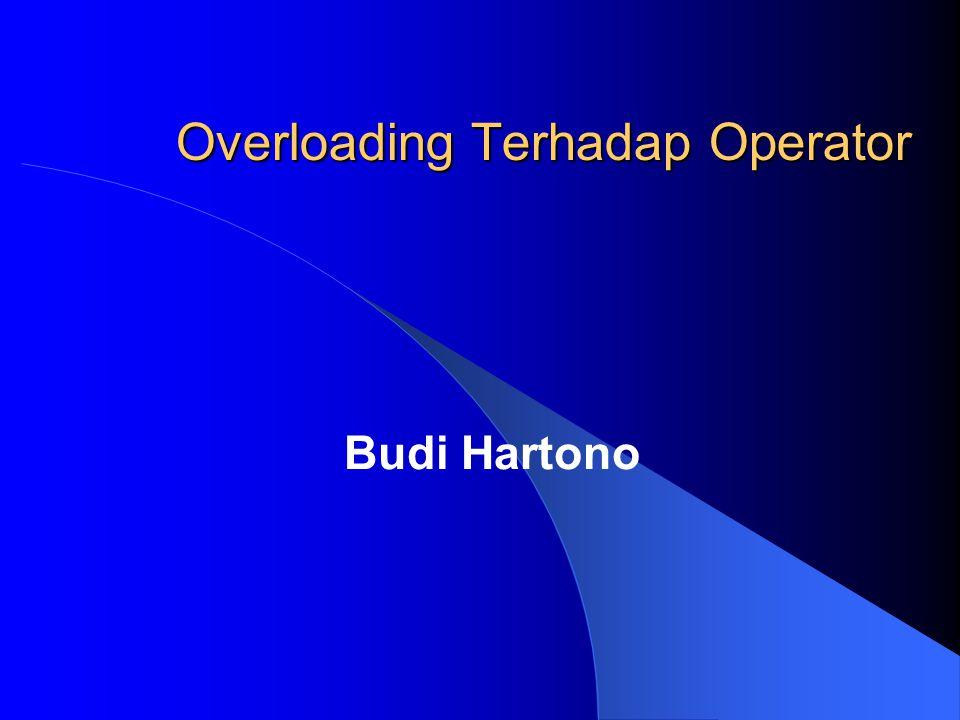 Budi Hartono Overloading Terhadap Operator