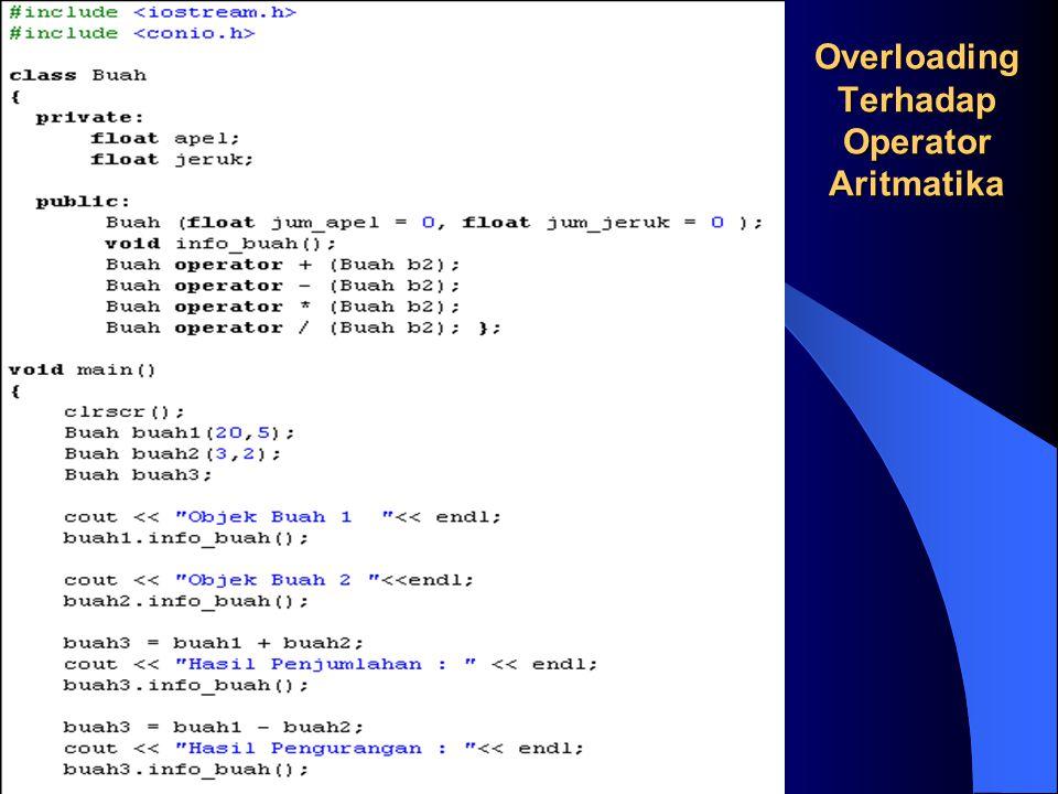 Overloading Terhadap Operator Aritmatika