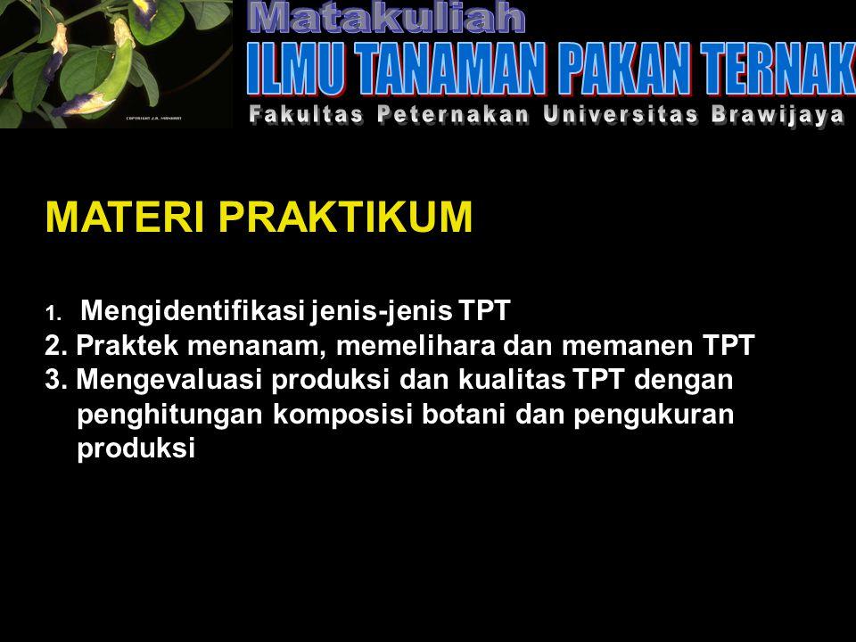 MATERI PRAKTIKUM 1. Mengidentifikasi jenis-jenis TPT 2.