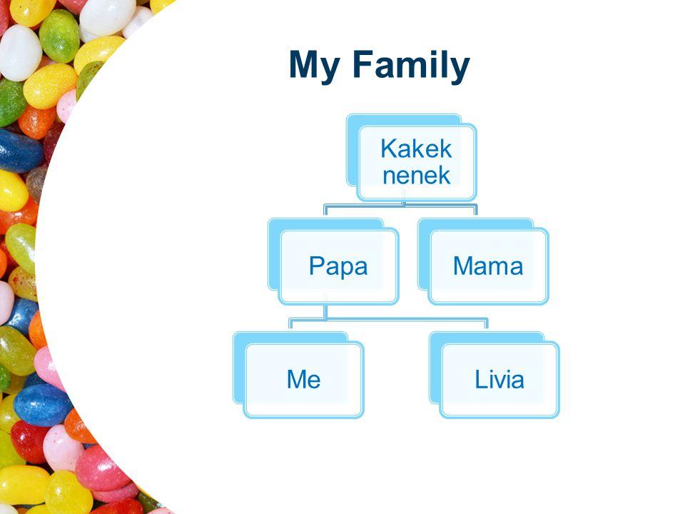 My Family Kakek nenek PapaMeLiviaMama