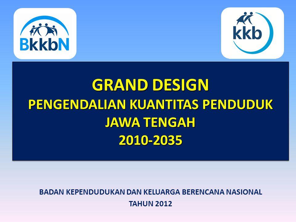 GRAND DESIGN PENGENDALIAN KUANTITAS PENDUDUK JAWA TENGAH 2010-2035 GRAND DESIGN PENGENDALIAN KUANTITAS PENDUDUK JAWA TENGAH 2010-2035 BADAN KEPENDUDUK