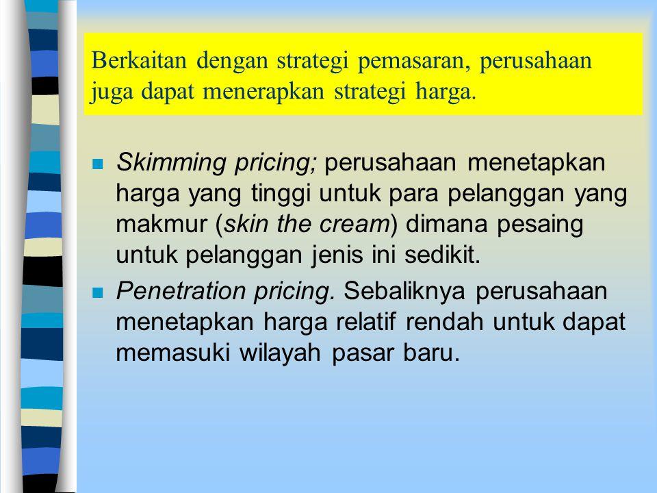 Strategi pemasaran secara operasional juga berkaitan dengan strategi promosi dan periklanan. Dalam kaitan ini dikenal strategi berikut: n Push marketi