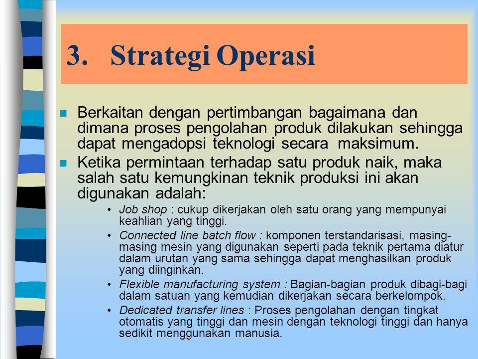 2.Strategi Penelitian dan Pengembangan (R&D Strategy) n Strategi ini berkaitan dengan inovasi dan pengembangan dalam produk. n Proses pilihannya adala