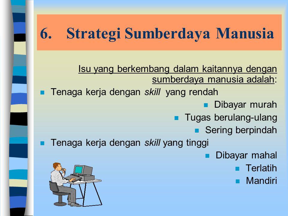 5.Strategi Logistik n Strategi ini meliputi pertimbangan akan arus barang ke dalam dan keluar proses produksi. n Ada tiga bentuk trend yang dapat digu
