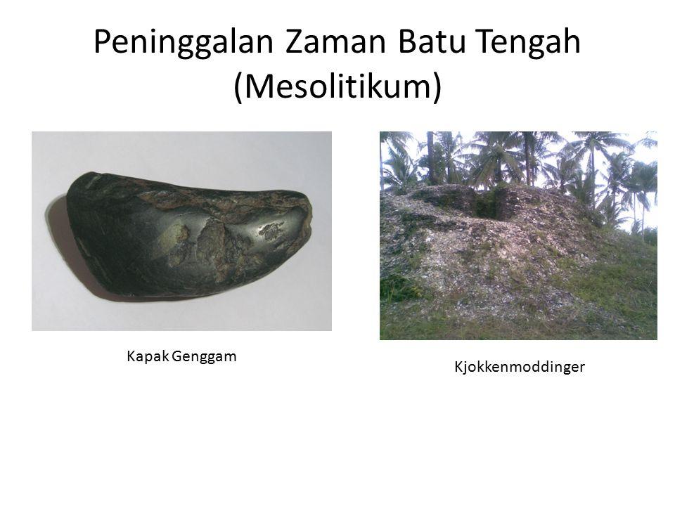Peninggalan Zaman Batu Tengah (Mesolitikum) Kapak Genggam Kjokkenmoddinger