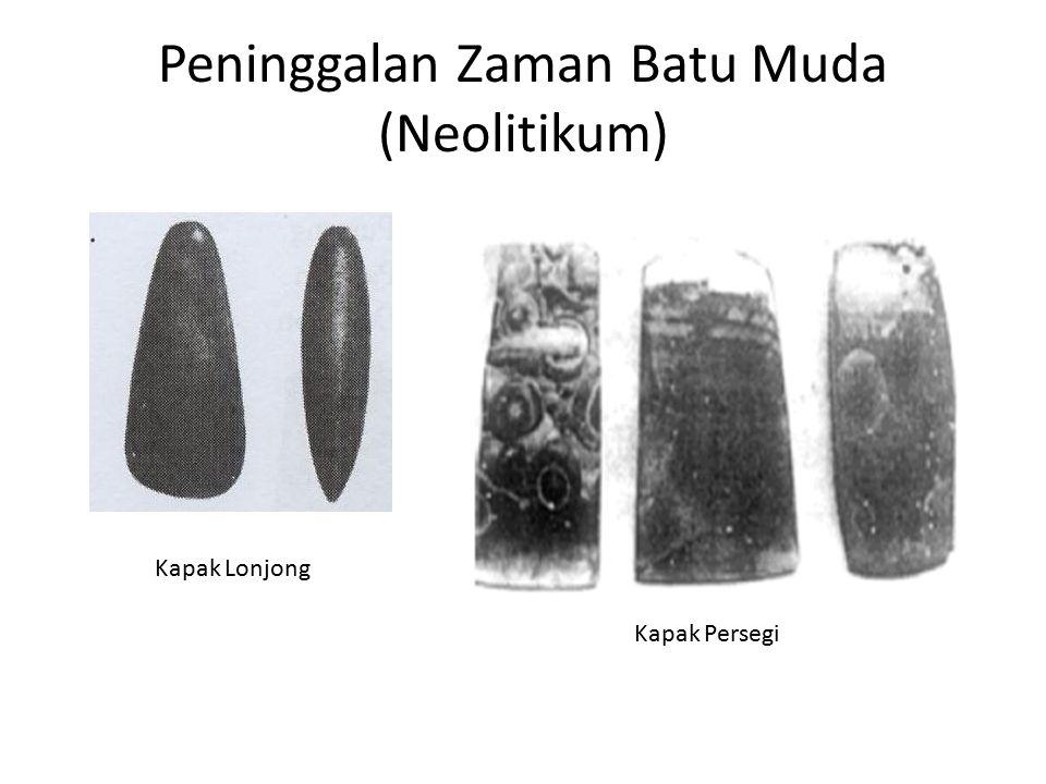 Peninggalan Zaman Batu Muda (Neolitikum) Kapak Lonjong Kapak Persegi