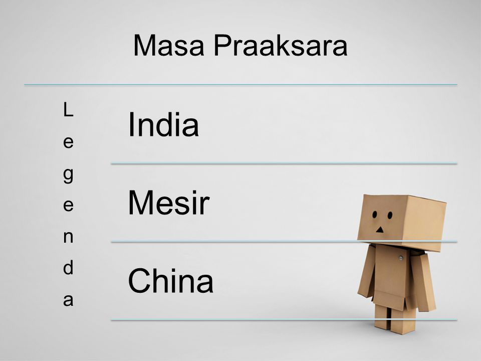 Masa Praaksara India Mesir China