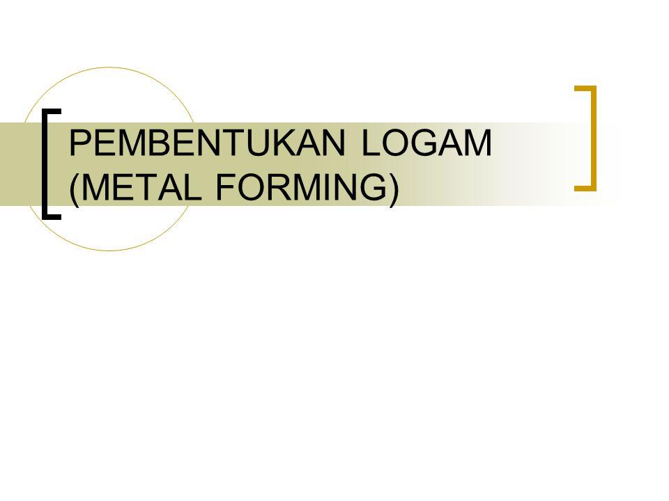PEMBENTUKAN LOGAM (METAL FORMING)