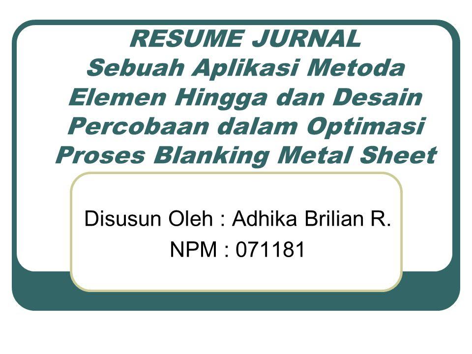 Pendahuluan blanking logam adalah proses secara luas digunakan dalam volume tinggi produksi komponen logam.