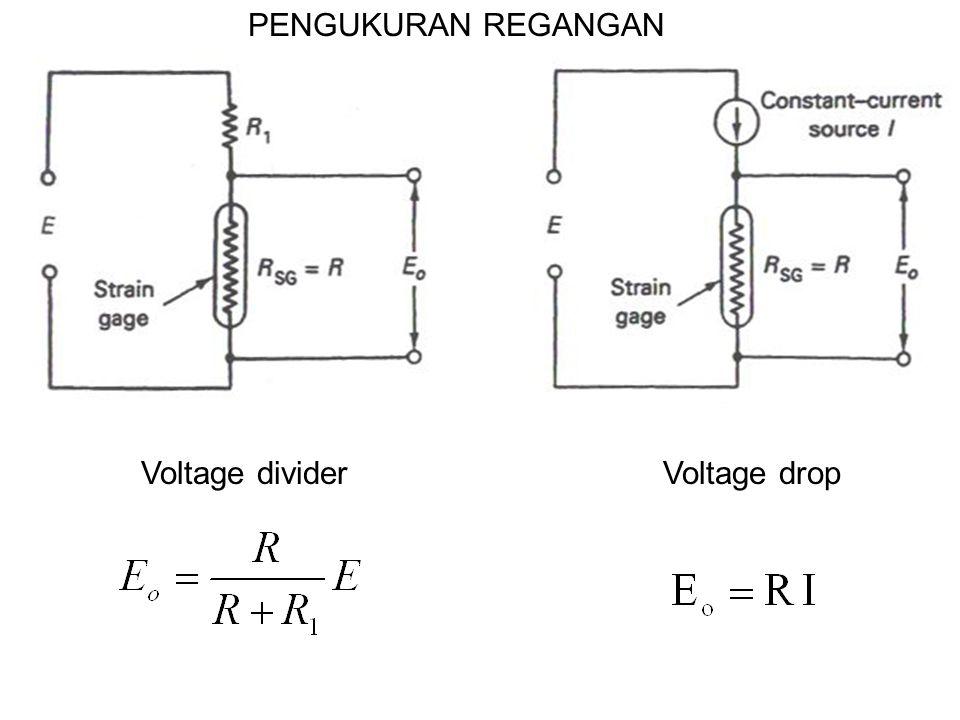 Voltage dividerVoltage drop PENGUKURAN REGANGAN