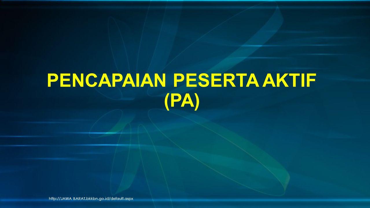 http://JAWA BARAT.bkkbn.go.id/default.aspx PENCAPAIAN PESERTA AKTIF (PA)