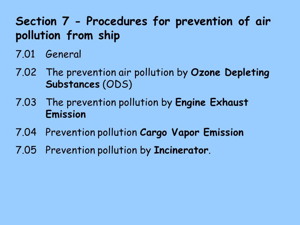 6.07 Galley waste disposal unit Bila di kapal dilengkapi dengan peralatan galley disposal unit (comminuter) maka harus dirawat dengan baik dan digunakan sebaik-baiknya.