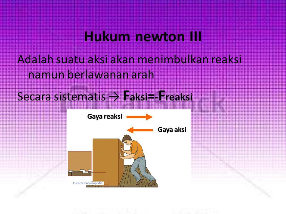 Contoh soal 1.Benda bermassa 1 kg bergerak dengan percepatan konstan 5 m/s 2.