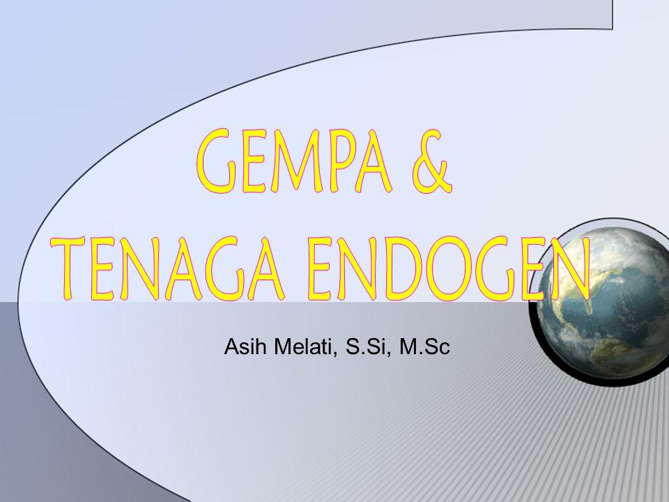 Tenaga Endogen TTenaga endogen  Tenaga yang berasal dari dalam bumi yang menyebabkan perubahan pada kulit bumi.