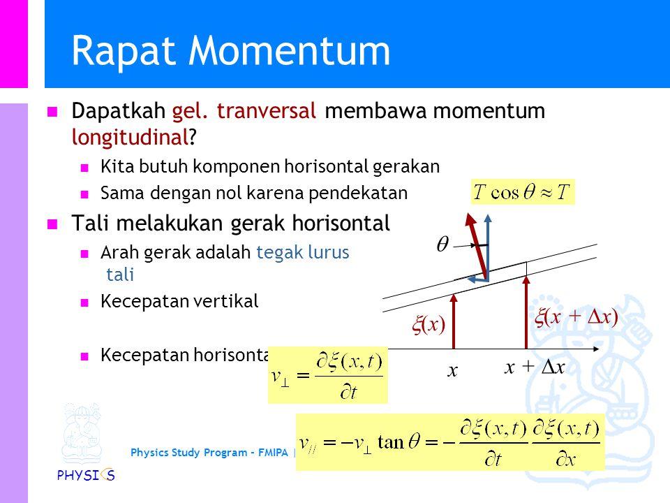 Physics Study Program - FMIPA | Institut Teknologi Bandung PHYSI S Rapat Momentum Dapatkah gel.