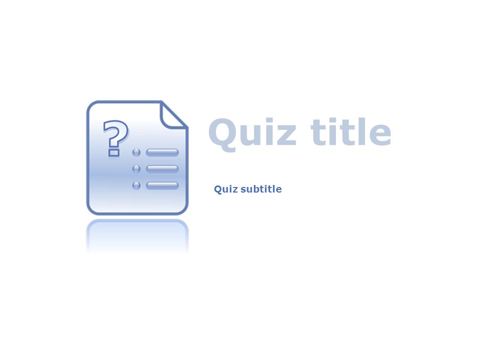 Quiz title Quiz subtitle