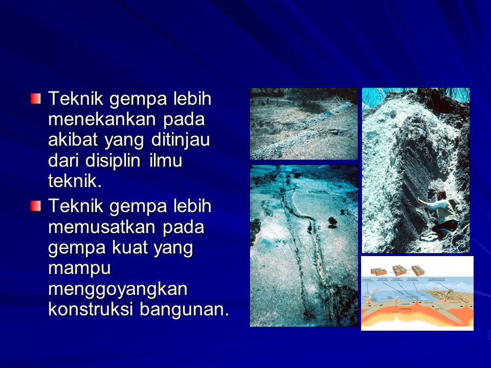Studi Seismisitas cenderung untuk mengkarakteristikkan distribusi spasial gempa, perilaku sementara dan sumber-sumbernya, khususnya saat menyinggung struktur geologis seperti daerah- daerah kegagalan.