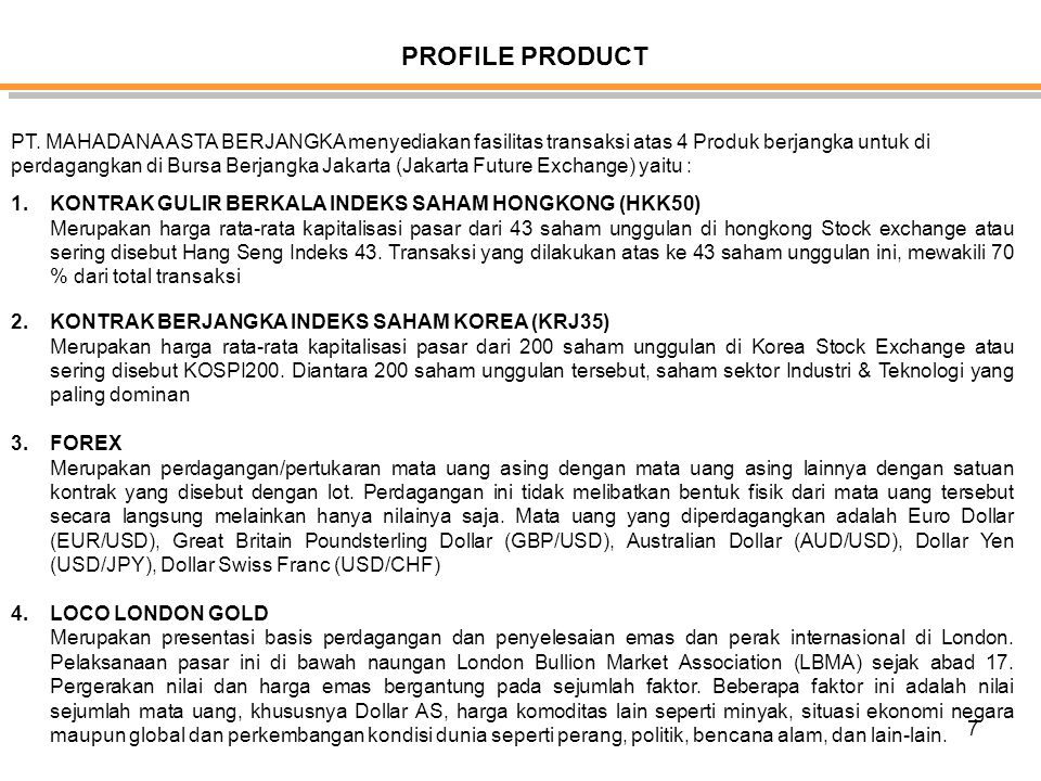 7 PROFILE PRODUCT PT.