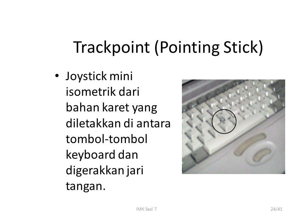 IMK Sesi 724/41 Trackpoint (Pointing Stick) Joystick mini isometrik dari bahan karet yang diletakkan di antara tombol-tombol keyboard dan digerakkan j