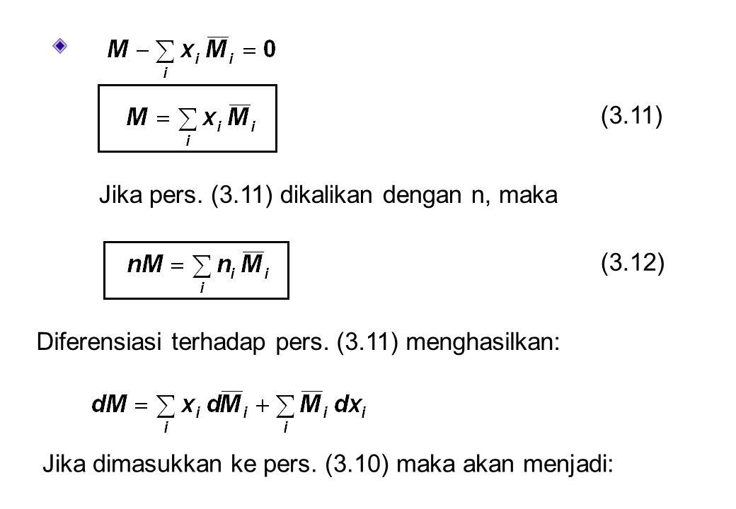 (3.11) Jika pers. (3.11) dikalikan dengan n, maka (3.12) Diferensiasi terhadap pers. (3.11) menghasilkan: Jika dimasukkan ke pers. (3.10) maka akan me