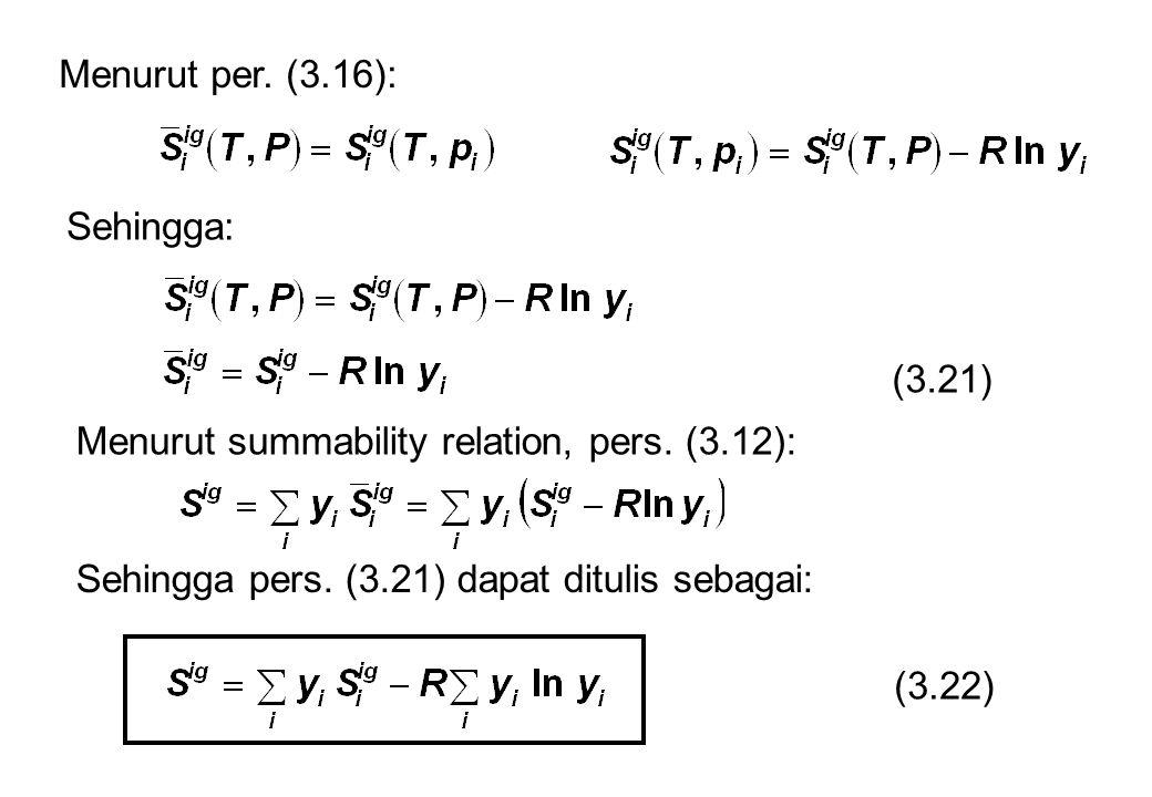 Menurut per. (3.16): Sehingga: (3.21) Menurut summability relation, pers. (3.12): Sehingga pers. (3.21) dapat ditulis sebagai: (3.22)