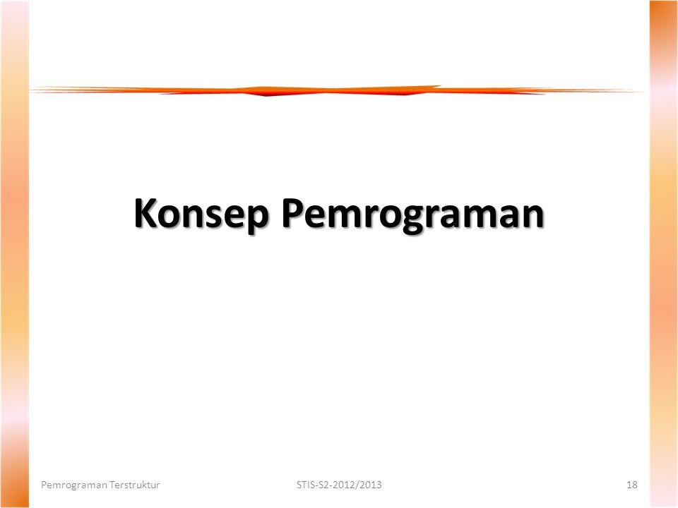 Konsep Pemrograman Pemrograman TerstrukturSTIS-S2-2012/201318