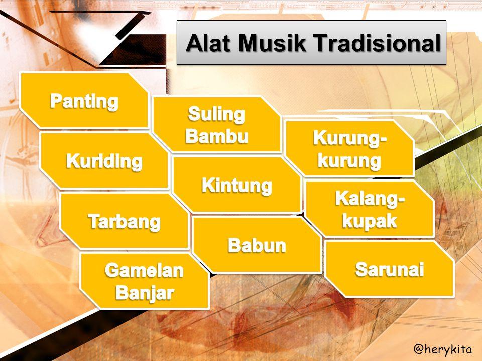 Alat Musik Tradisional @herykita