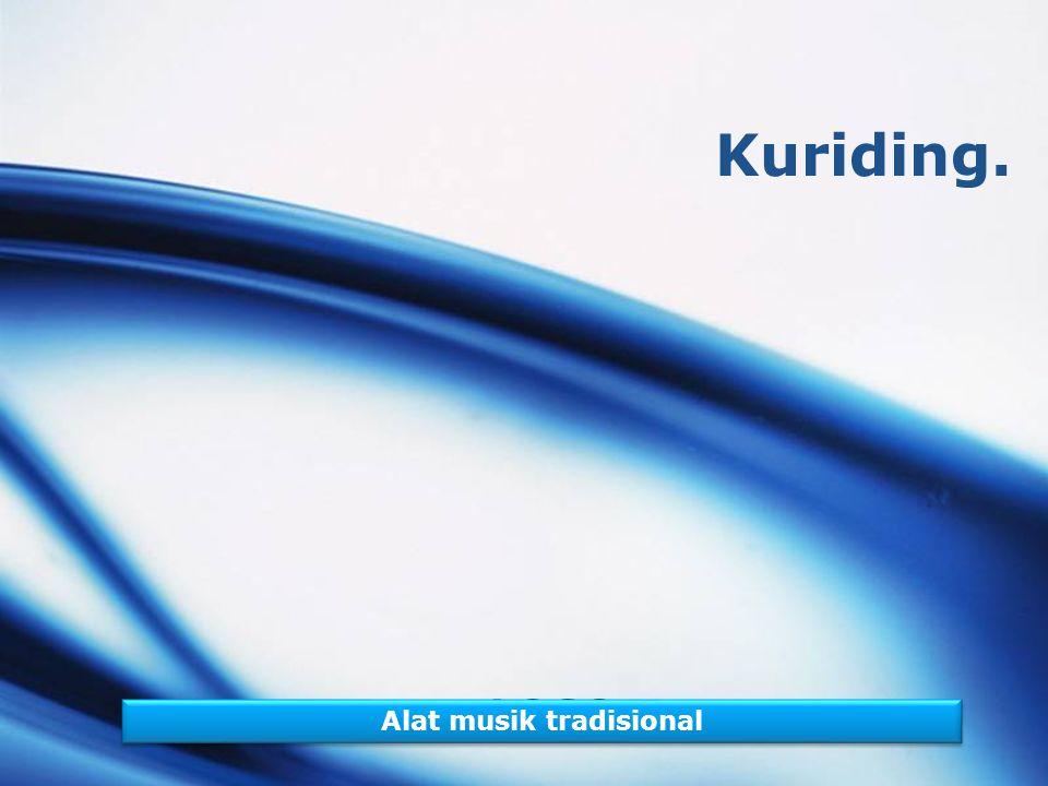 LOGO Kuriding. Alat musik tradisional