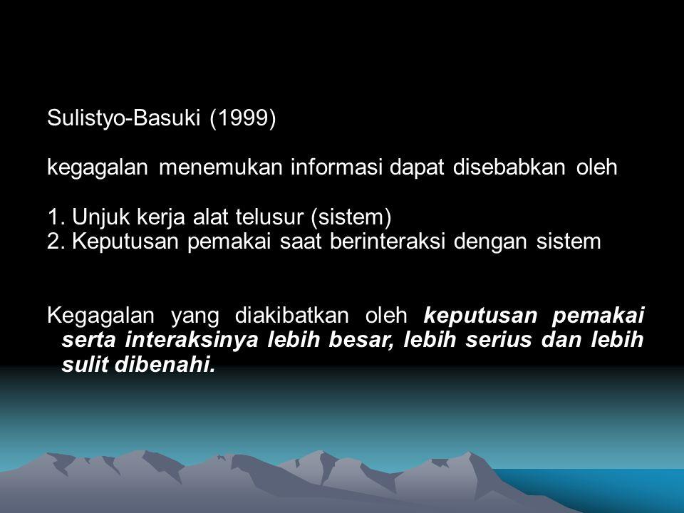 Kiat penelusuran informasi melalui Off-line dan On-Line.