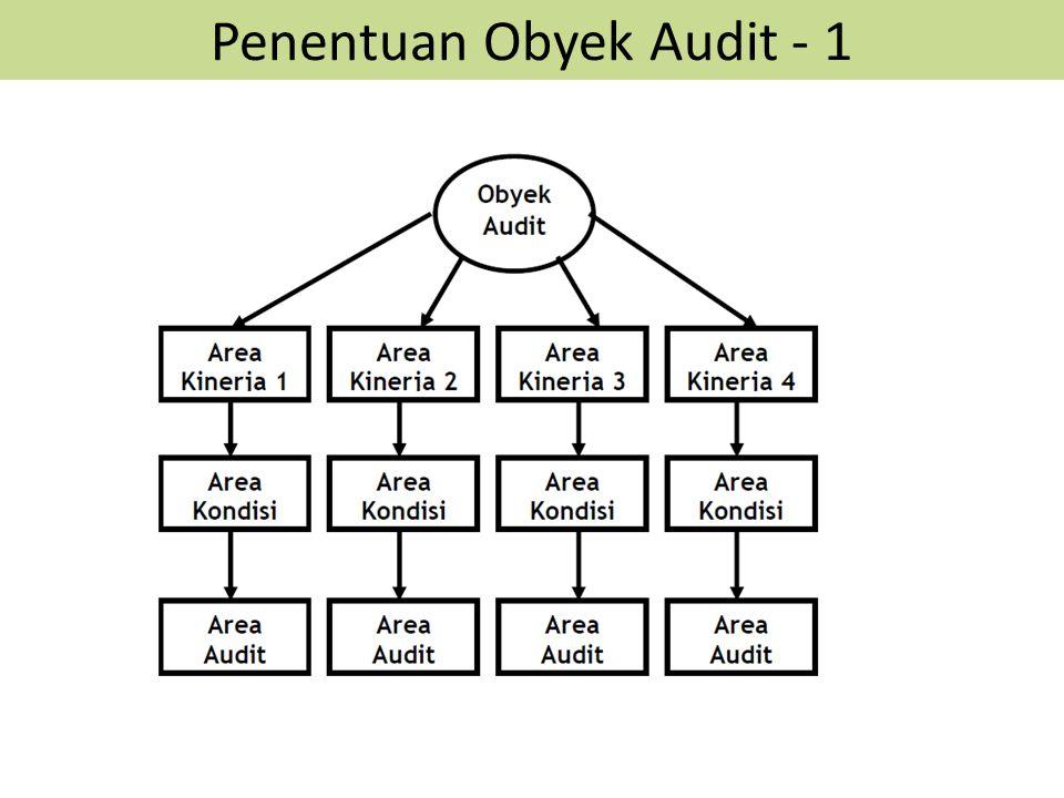 Penentuan Obyek Audit - 1