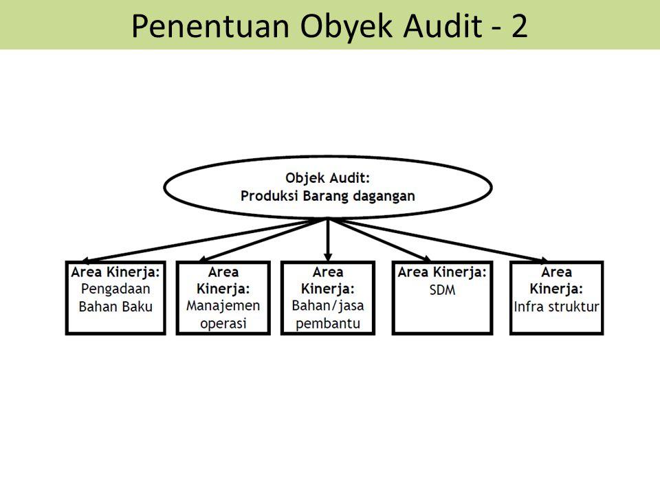 Penentuan Obyek Audit - 2