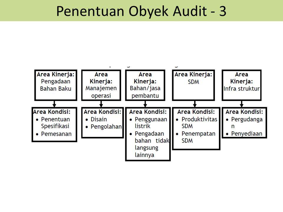 Penentuan Obyek Audit - 3