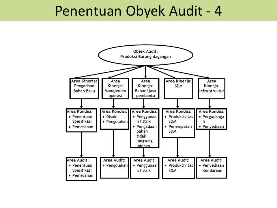 Penentuan Obyek Audit - 4