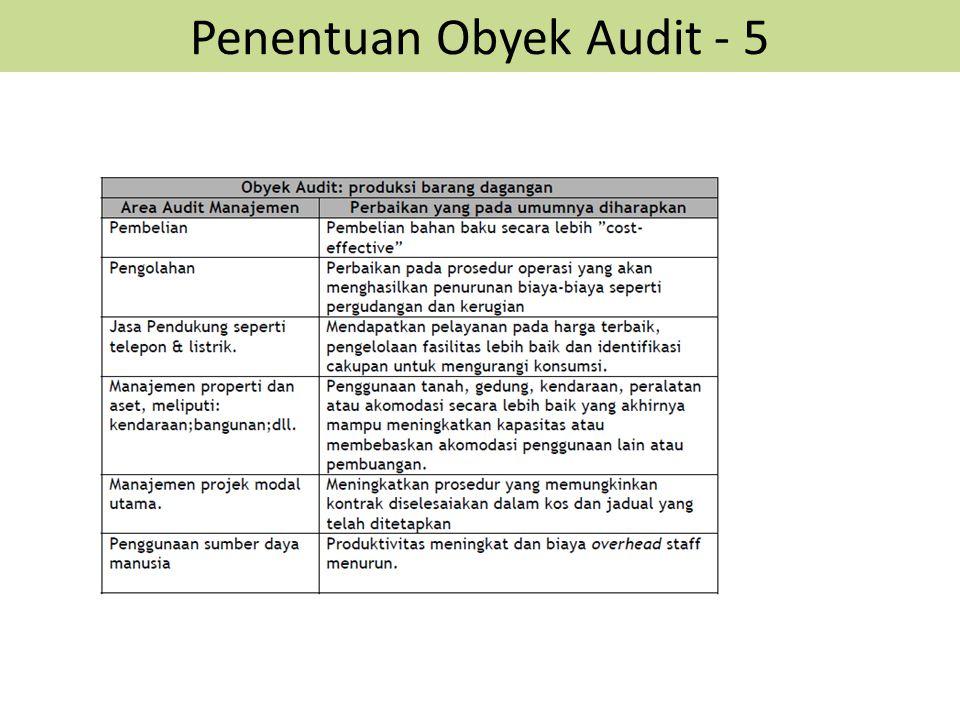 Penentuan Obyek Audit - 5