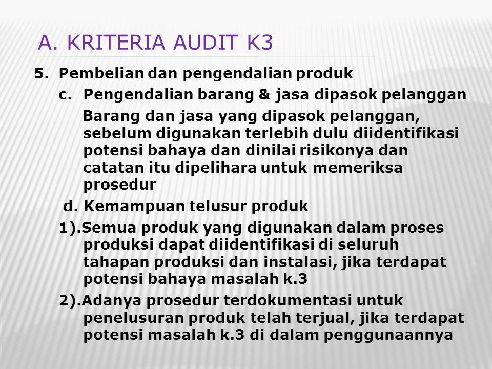 5.Pembelian dan pengendalian produk c.Pengendalian barang & jasa dipasok pelanggan Barang dan jasa yang dipasok pelanggan, sebelum digunakan terlebih
